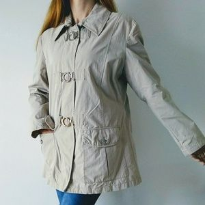 Regent Park Short Tan Trench Coat